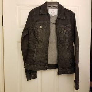 NWOT Guess Black Denim Jacket